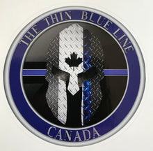 Load image into Gallery viewer, The Thin Blue Line Canada Official Sticker /Decal (3 '' Round)