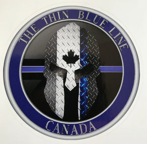 The Thin Blue Line Canada Official Sticker /Decal (3 '' Round)