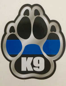 Thin Blue Line K9 Paw Decal / Sticker