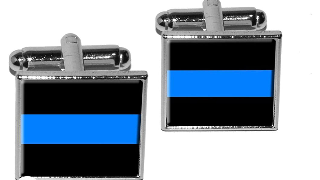 Thin Blue Line Cufflink Set