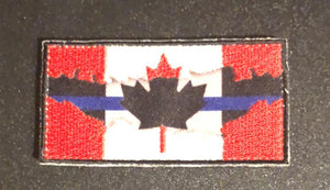 Thin Blue Line Canada 🇨🇦 Red / Blue Line Flag 7.5 cm x 4 cm