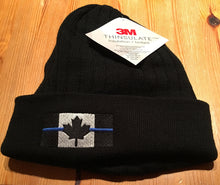 Load image into Gallery viewer, Thin Blue Line Canada Thinsulate Beanie Toque w/cuff