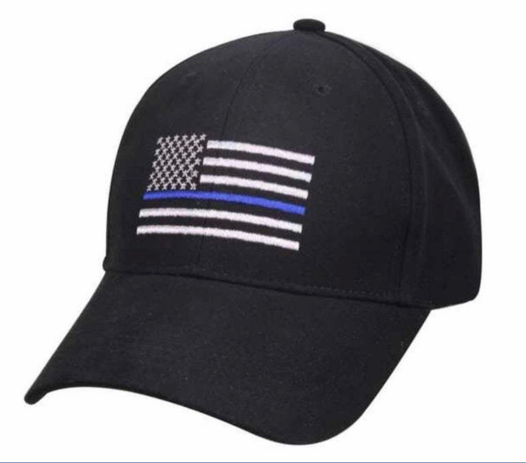 Thin Blue Line America Flag Low Profile Tactical Baseball Cap