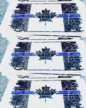 Load image into Gallery viewer, Thin Blue Line Distressed Canadian Flag License Plate