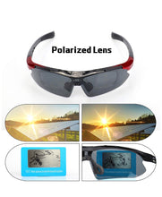 Load image into Gallery viewer, Thin Red Line inspired Polarized Sunglasses - Semi-Rimless Style, 5 Interchangeable Lens