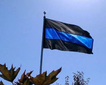 Load image into Gallery viewer, Thin Blue Line Flag (5 ft. x 3 ft.)