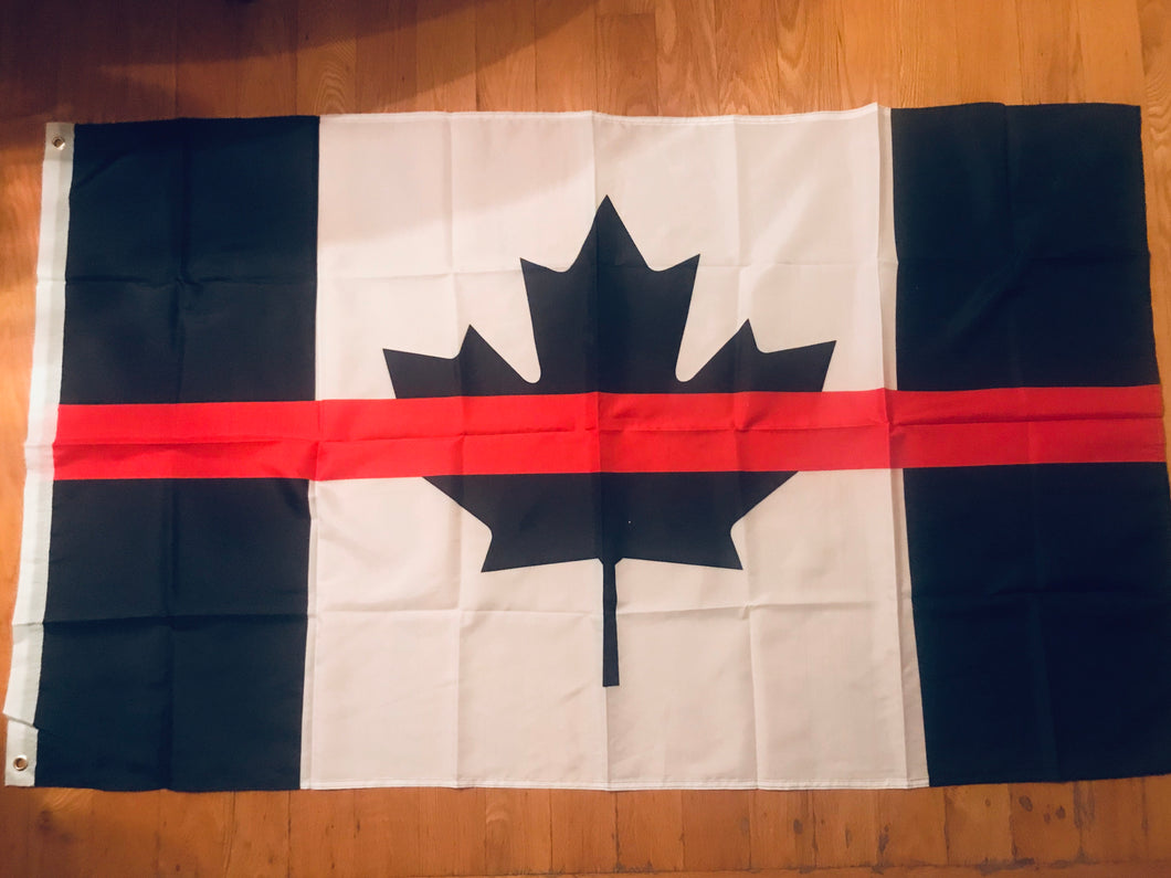 Thin Red Line Canadian Flag