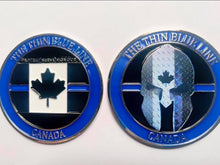 Load image into Gallery viewer, Thin Blue Line Canada 🇨🇦 Official Challenge Coin