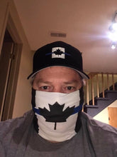 Load image into Gallery viewer, Thin Blue Line Canada Neck Gaiter / Face Mask Duo (Free Shipping)
