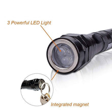 Load image into Gallery viewer, Magnetic 3 LED Flash Light 5 Pound Magnet Telescopic Flexible Neck Pick Up Tool