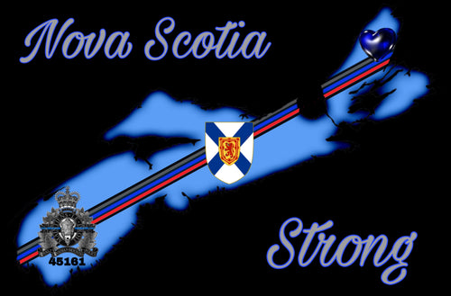 Nova Scotia Strong Fundraiser Sticker / Decal (Version 2)
