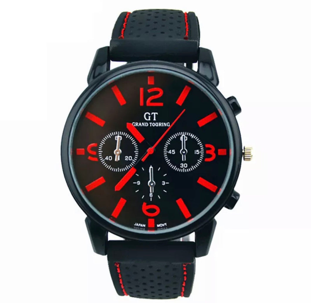 Thin Red Line Inspired Watch