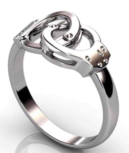 Sterling Silver Handcuff Ring