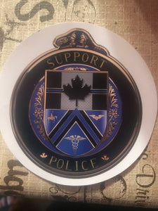 Thin Blue Line Canada Support Police Decal / Sticker