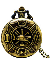 Load image into Gallery viewer, Firefighter Design Pocket Watch