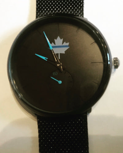 Thin Blue Line Canada Maple Leaf Watch