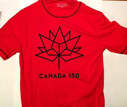 HIGH QUALITY RED OR WHITE CANADA 150 OFFICIAL LOGO T-SHIRT