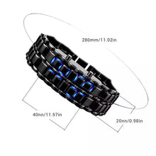 Load image into Gallery viewer, Thin Blue Line Inspired Digital Lava LED Mirror Titanium Alloy Watch  (FREE Shipping)