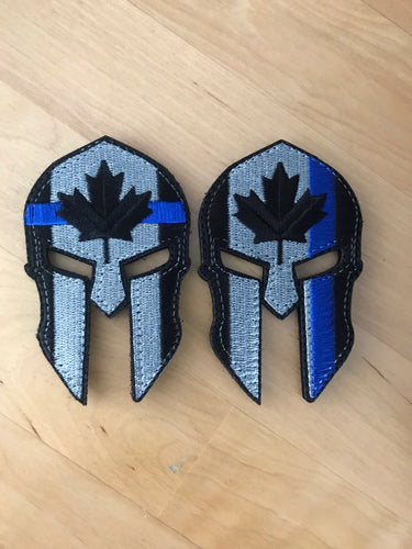 Spartan Thin Blue Line Canada Patch (2 Models)
