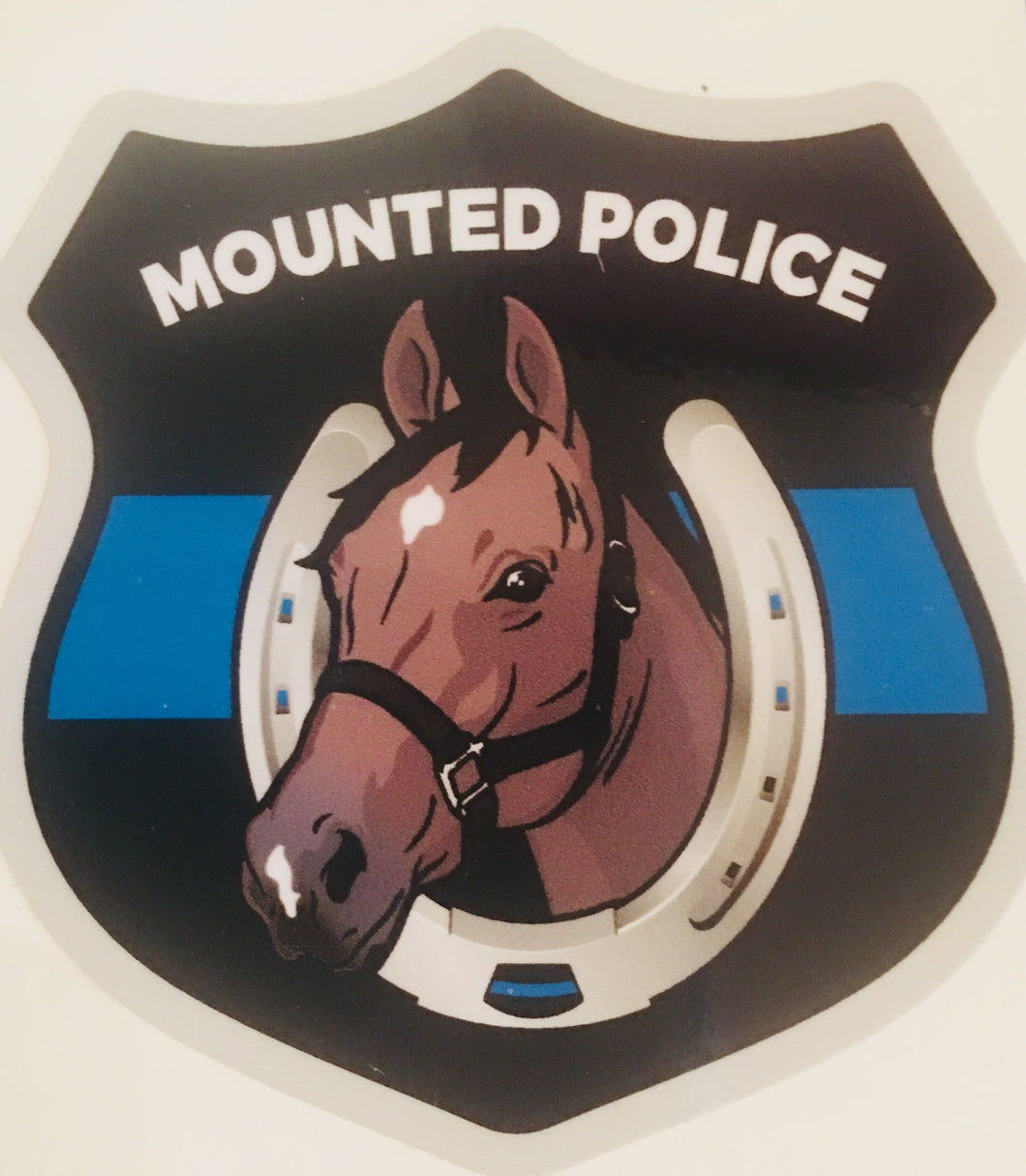 Mounted Police Thin Blue Line Sticker / Decal