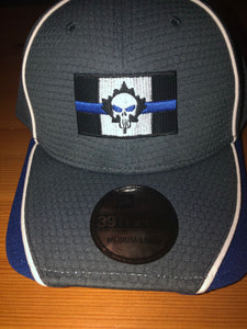 New Era Dry Mesh Hex Thin Blue Line Canada Punisher Edition 39 Thirty Fitted Cap