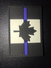 Load image into Gallery viewer, Thin Blue Line Canada PVC Velcro Backed Patch (large)