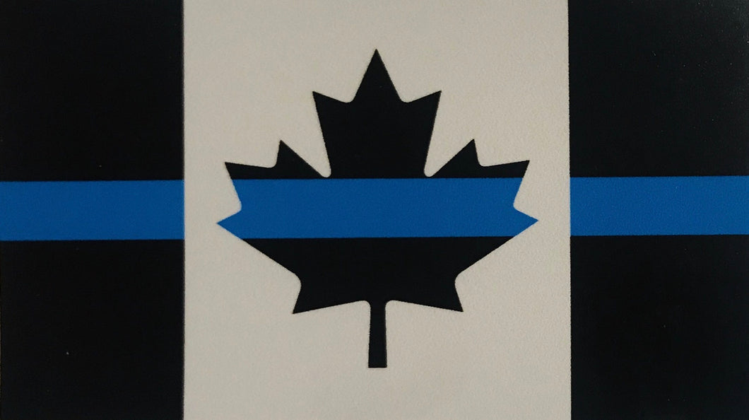 Thin Blue Line Canada Flag Window Sticker / Decal (sticks from inside)