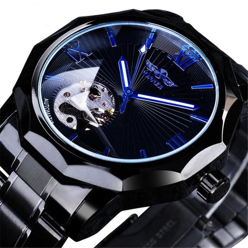 """Blue Ocean"" Thin Blue Line Inspired Transparent Dial Men's Watch (FREE Shipping)"