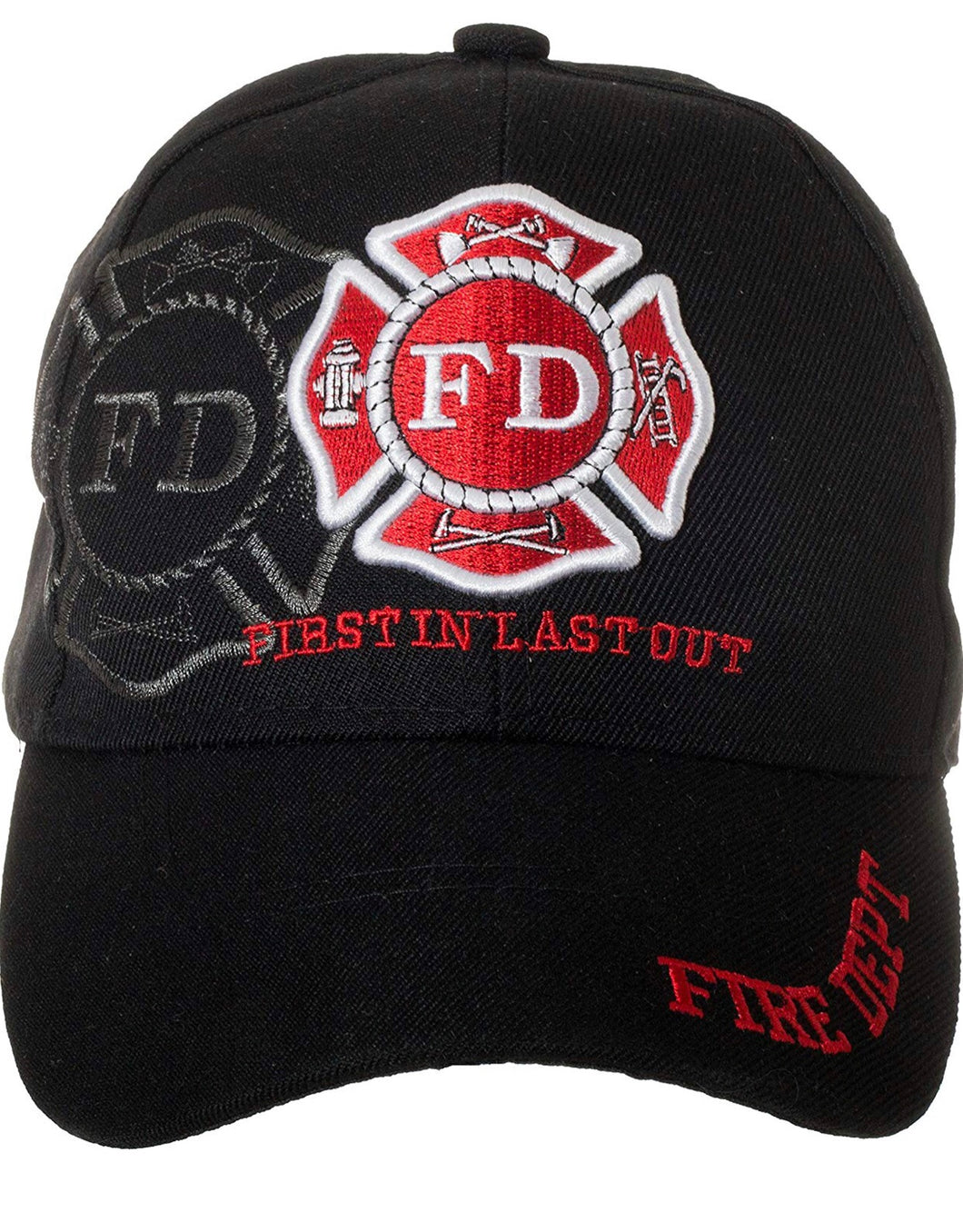 Fire Department First in Last Out embroidered Hat / Cap
