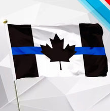 Load image into Gallery viewer, Thin Blue Line Canada Desk / Handheld  Cloth Flag