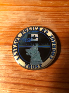 The Thin Blue Line Canada K9 Challenge Coin