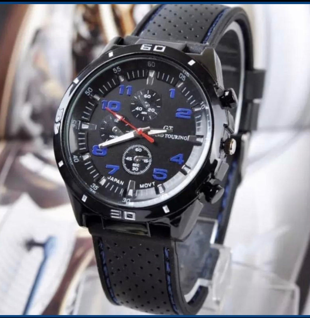 Genuine Leather Strap Thin Blue Line Inspired Watch