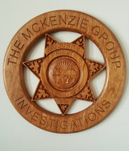 "Load image into Gallery viewer, 22"" First Responders Badge / Emblem / Crest Carved out of Wood"