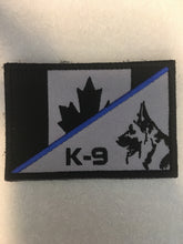 Load image into Gallery viewer, Thin Blue Line Canadian Flag / K9 Patch