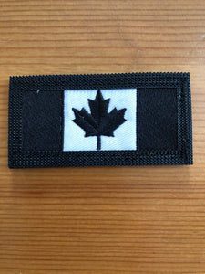 Double Sided Thin Blue Line Canadian Flag / Canadian Flag Patch (2 versions)