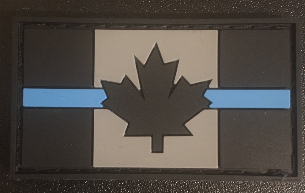 Thin Blue Line Canada Flag PVC Velcro Backed Patch (small)