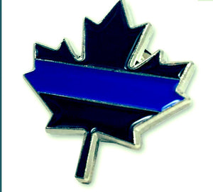 Maple Leaf Thin Blue Line Canadian Lapel Pin