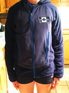 North End Sport Thin Blue Line Men's / Women's Vortex Polartec Active Fleece Jacket