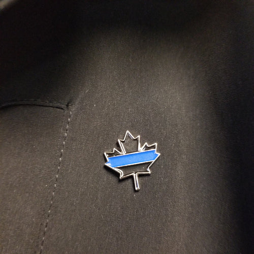 Maple Leaf Thin Blue Line Lapel Pin