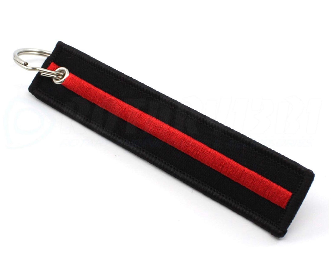 Thin Red Line - Key Chain