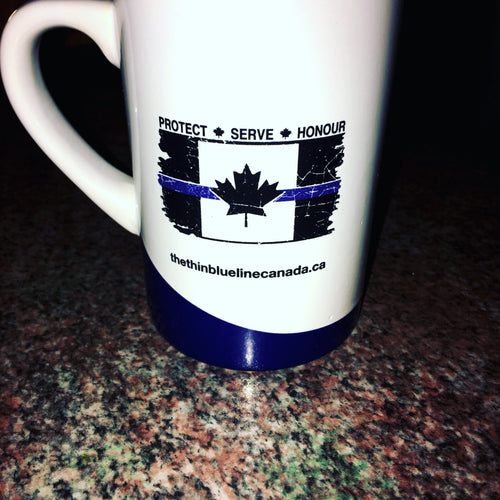 Thin Blue Line Canada Ceramic Coffee Mug (2 Pack)