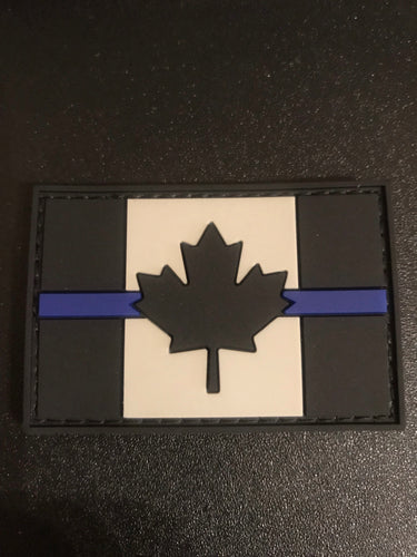 Thin Blue Line Canada PVC Velcro Backed Patch (large)