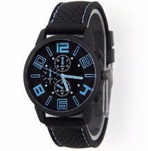 Load image into Gallery viewer, Thin Blue Line Inspired Large Numbers Watch