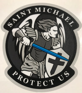 Saint Michael Protect Us Decal / Sticker