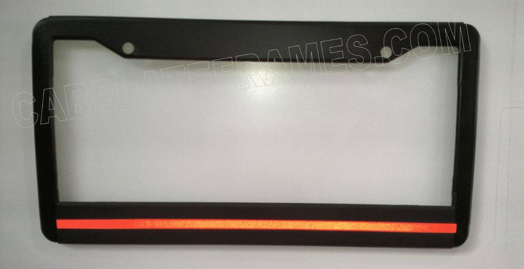 Thin Red Line License Plate Frame REFLECTIVE