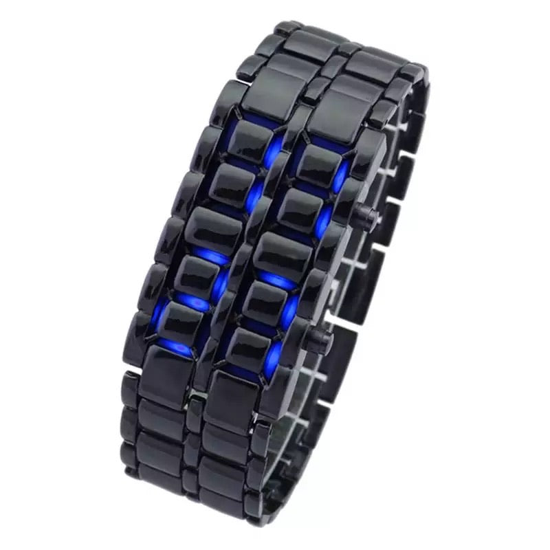 Thin Blue Line Inspired Digital Lava LED Mirror Titanium Alloy Watch  (FREE Shipping)