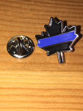 Load image into Gallery viewer, Maple Leaf Thin Blue Line Canadian Lapel Pin