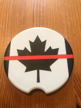 Load image into Gallery viewer, Thin Red. Line Canada Sandstone Coasters