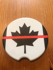 Thin Red. Line Canada Sandstone Coasters