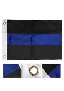 "12""x18"" Motorcycle Thin Blue Line Police Flag"